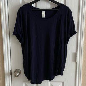 H&M Asymmetrical Short Sleeve Blouse sz XL
